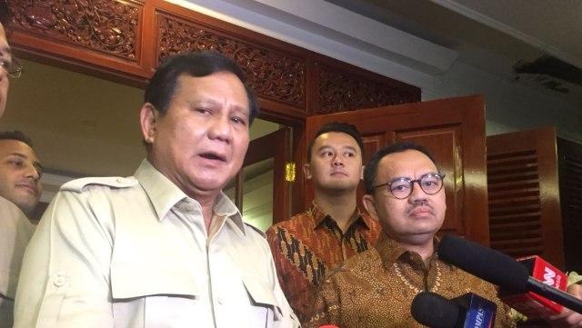 Pertemuan Prabowo dan Sudirman Said di Rumah Kertanegar
