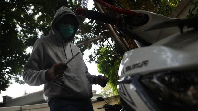 Ilustrasi Pencurian motor