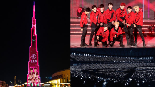 EXOL pasang LED show di Burj Khalifa