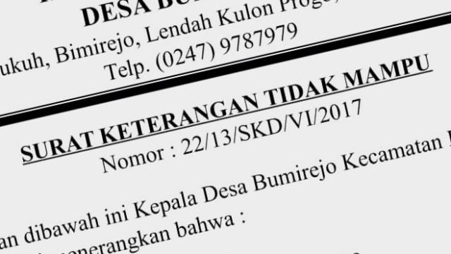 6550 Siswa Di Yogyakarta Bawa Surat Keterangan Tidak Mampu
