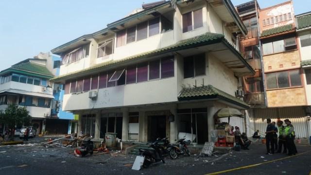 Lokasi ledakan, Ruko Grand Wijaya Center