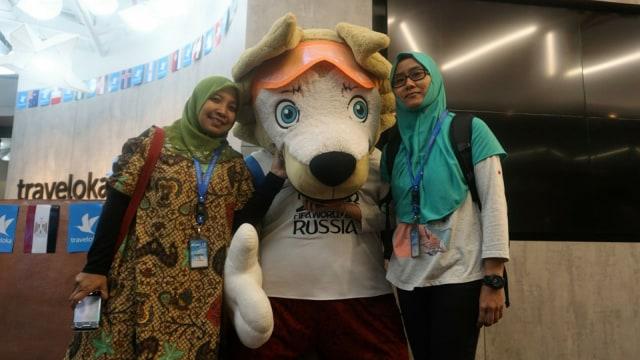 Ita Rima menjadi pemenang hadiah ke Rusia dari Traveloka