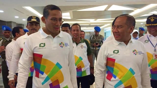 Sandiaga Uno tinjau venue untuk Asian Games