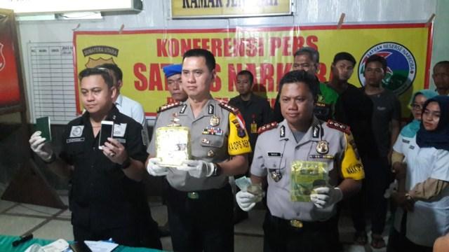 3 Pengedar Sabu Jaringan Malaysia Ditangkap di Medan  (95401)