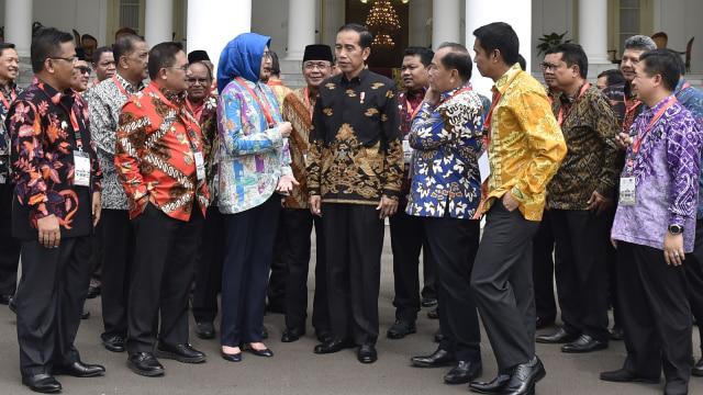 Silaturahmi Presiden Jokowi dan Wali Kota di Istana Bogor, Airin Rachmi Diany