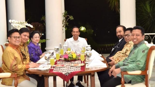 Jokowi bertemu ketum parpol koalisi di Istana Bogor