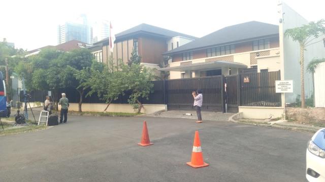 Suasana lokasi pertemuan SBY-Prabowo