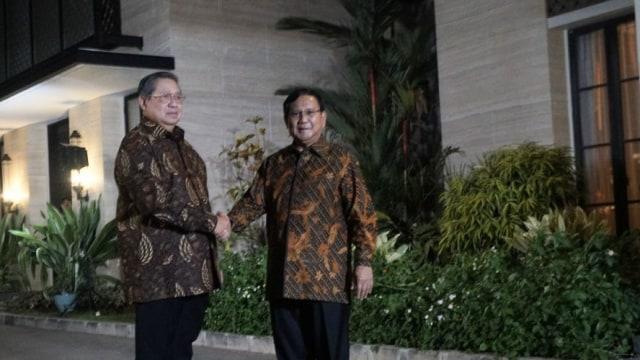 Pertemuan SBY dan Prabowo di Mega Kuningan, Jakarta, Selasa (24/7).