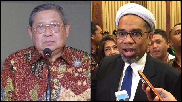 Susilo Bambang Yudhoyono dan Ali Mochtar Ngabalin.