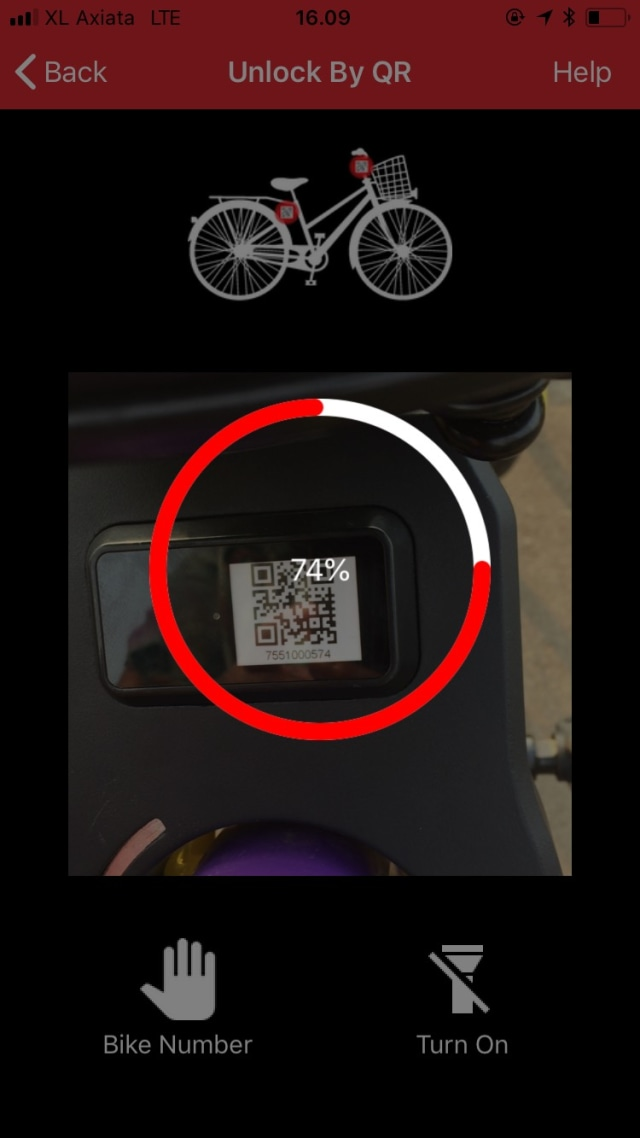 Scan Barcode di Gowes