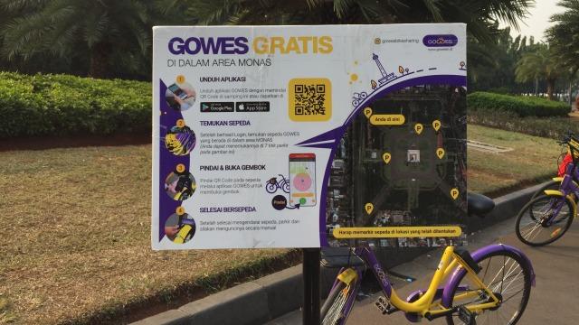Papan Petunjung Bike Sharing