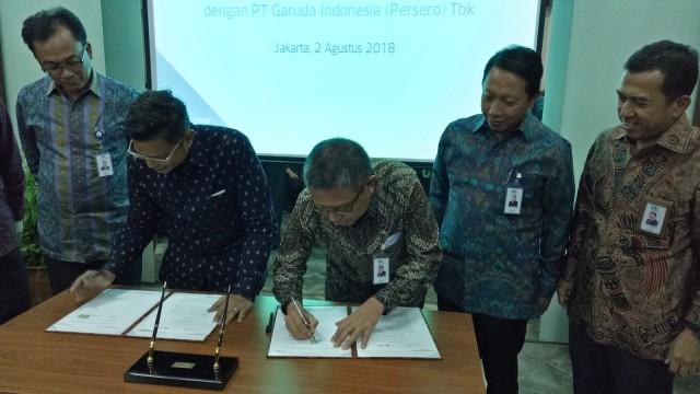 Garuda Asuransikan KIK EBA Tiket Jeddah dan Madinah ke Askrindo (85490)