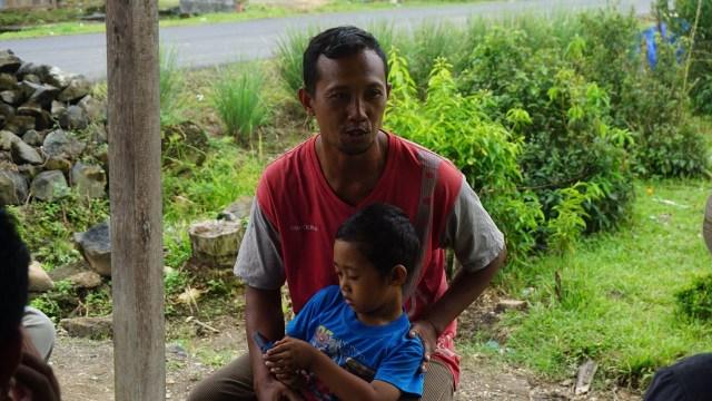 Jarno, salah seorang warga Desa Makarti