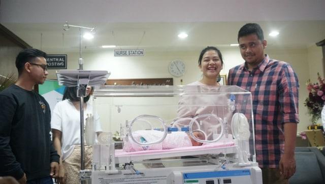 Cucu Kedua Jokowi, Sedah Mirah Nasution, Bobby Nasution, Kahiyang Ayu, RS YPK Mandiri