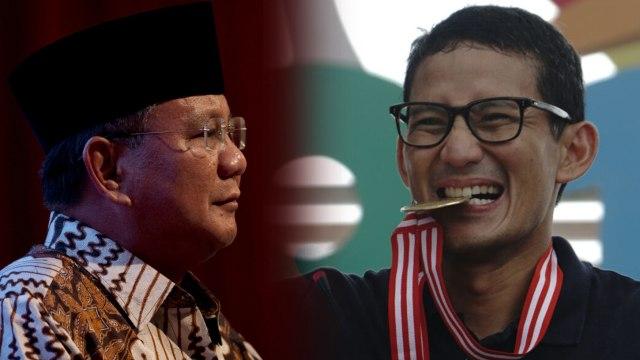 Prabowo Subianto, Sandiaga Uno, kolase