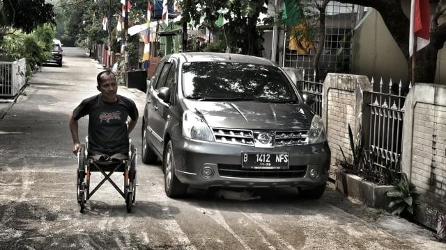 Modifikasi, motor roda tiga, difabel, buser, Catur Bambang