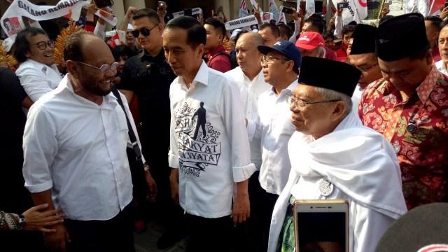 Jokowi dan Ma'ruf Amin, Gedung Joang 45