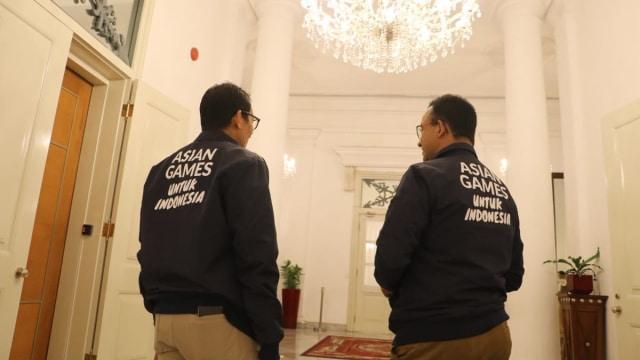 Perpisahan Gubernur Anies Baswedan dan Wakil Gubernur Sandiaga Uno,Balai Kota