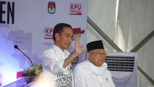 Lipsus, Duel Kedua Jokowi-Prabowo, Pendaftaran Jokowi dan Ma'ruf Amin, capres-cawapres 2019, kantor KPU