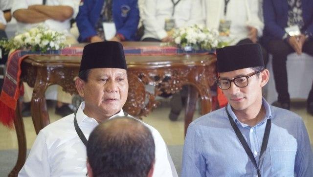 Prabowo Subianto, Sandiaga Uno dan capres-cawapres