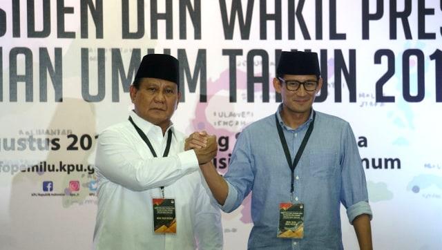 Lipsus, Duel Kedua Jokowi-Prabowo, Pendaftaran Prabowo dan Sandiaga Uno, Capres dan Cawapres 2019, KPU