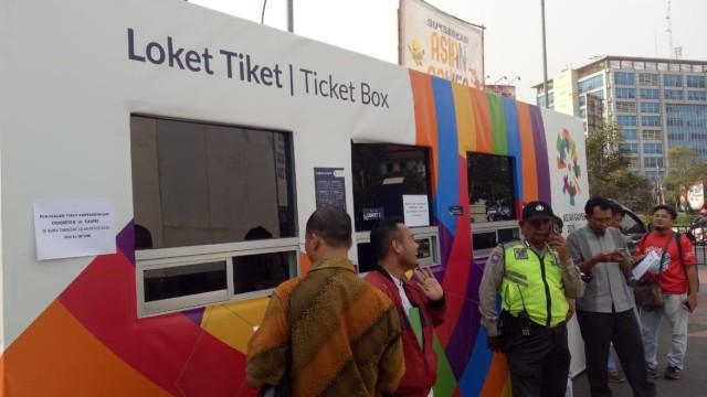 Loket Tiket Pengunjung, Stadion Patriot Chandrabraga, Bekasi