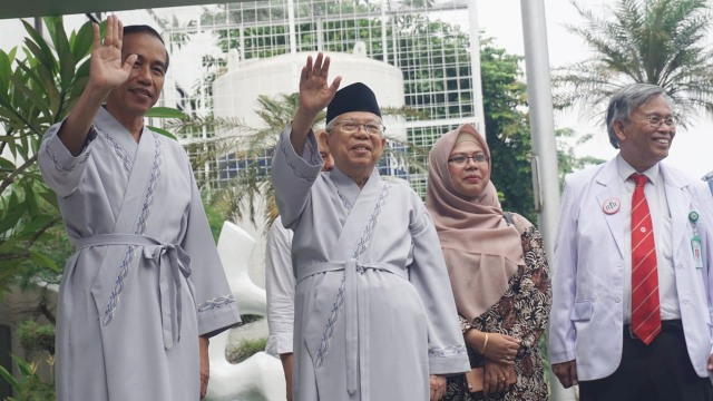 Jokowi, Ma'ruf Amin, RSPAD, Gatot Soebroto