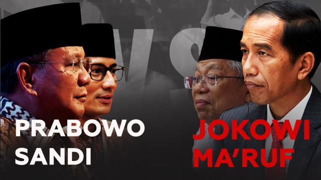 Jokowi - Ma'ruf vs Prabowo - Sandi