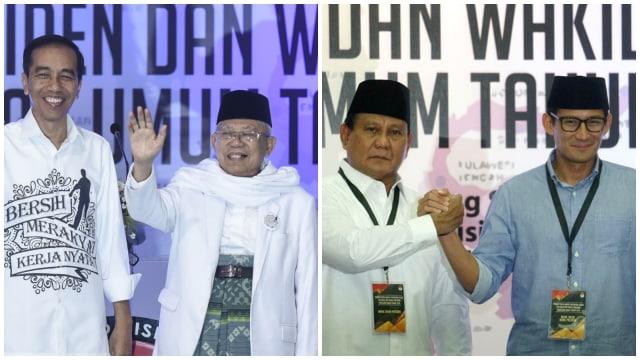 Jokowi-Ma'aruf dan Prabowo-Sandi