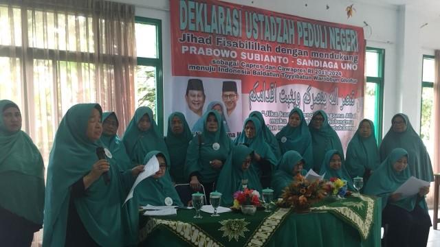 Ustazah Peduli Negeri Deklarasikan Dukungan untuk Prabowo-Sandi (26639)