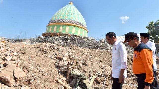 Joko Widodo, gempa bumi, lombok, TGB