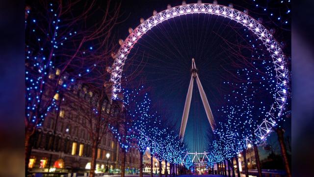 London Eye, Inggris di tepi sungai Thames