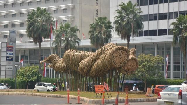 Instalasi Bambu di Bundaran HI
