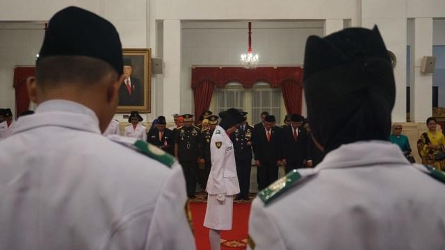 Jokowi kukuhkan, Paskibraka 2018, Istana Negara