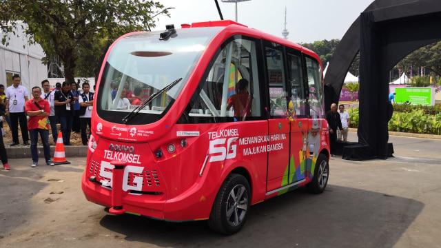 Mobil Otonom Telkomsel di Asian Games 2018