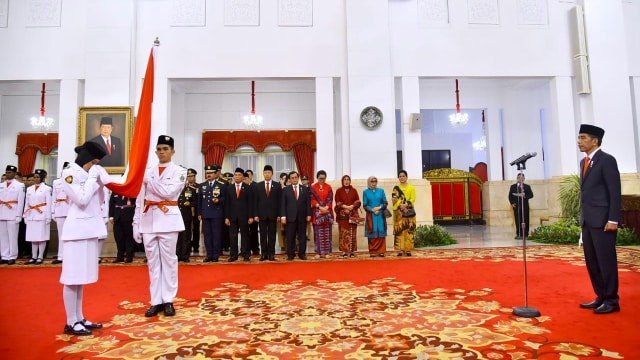 Paskibraka, Istana negara, Jokowi