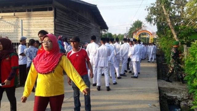 HUT ke-73 RI, Perbatasan Pulau Sebatik, Kalimantan Utara