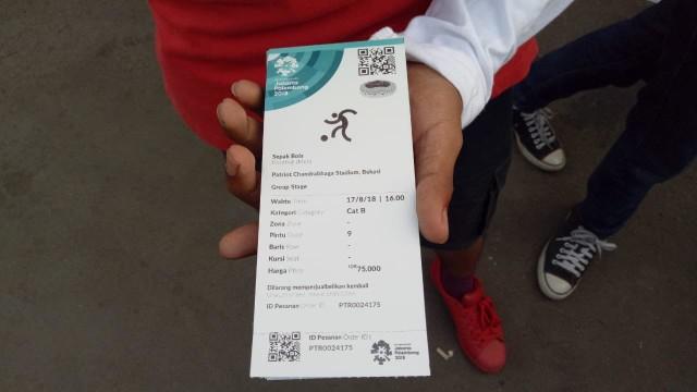 Tiket Asian Games Cabor Sepak Bola