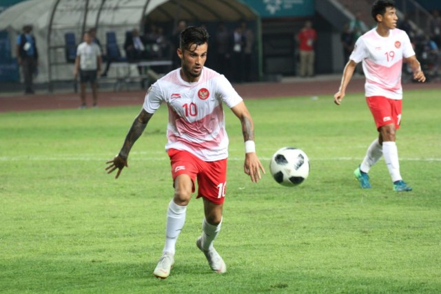 Tim Indonesia, Laos, Asian Games di Stadion Patriot, Bekasi, Stefano Lilipaly