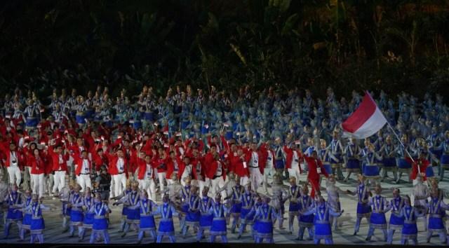 Kontingen Indonesia Dalam Opening Ceremony Asian Games 2018