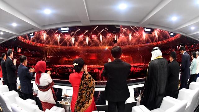 Jokowi Pada Acara Opening Ceremony Asian Games 2018