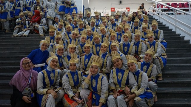 Perwakilan SMA Islam Dian Didaktika Depok yang jadi penari  Ratoh Jaroe pada pembukaan Asian Games 2018 di Gelora Bung Karno