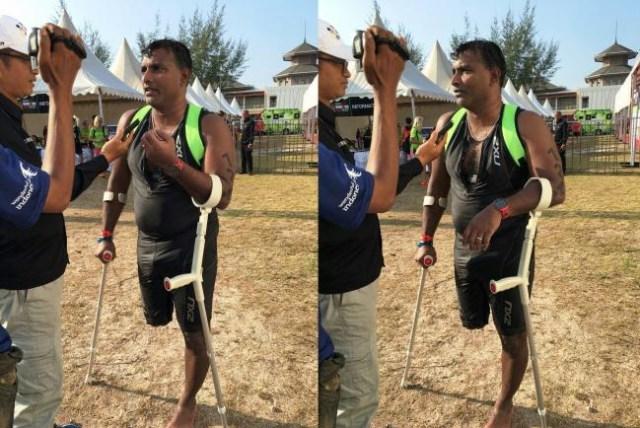 Hanya Punya Satu Kaki, Abdul Buat Orang Terperangah dalam Lomba Ironman (86045)