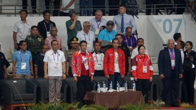 Asian Games 2018, Presiden RI Jokowi, Imam Nahrawi Menpora, Menko PMK Puan Maharani, Akuatik
