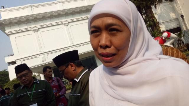 Gubernur Jawa Timur terpilih Khofifah Indar Parawansa di Istana Negara.