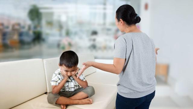 Ilustrasi marah pada anak