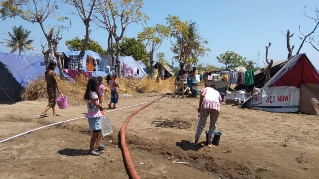PMI, Sanitasi Air dan MCK, Lombok Utara