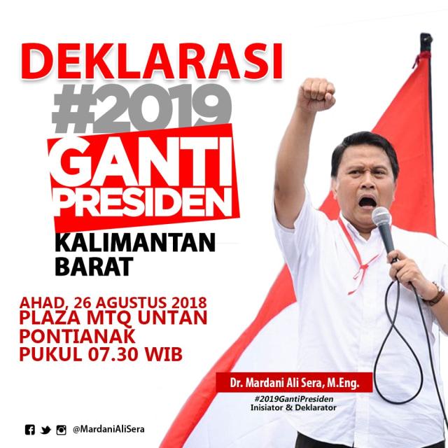 Deklarasi #2019GantiPresiden di Pontianak