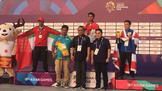 Aqsa Sutan Aswar, peraih medali emas untuk Indonesia