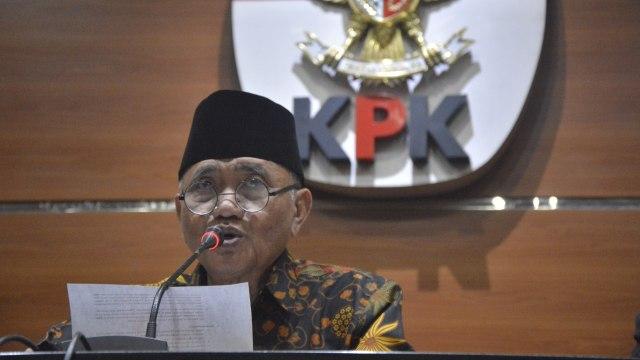 Ketua KPK, Agus Rahardjo, di Gedung KPK